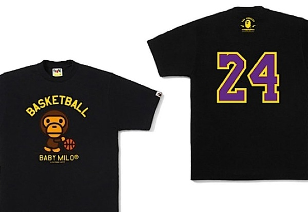 ee72ebe5c Paying homage to Kobe Bryant; the shirt comes in signature LA Laker yellow  and purple on a solid black background. It will begin releasing exclusively  at ...